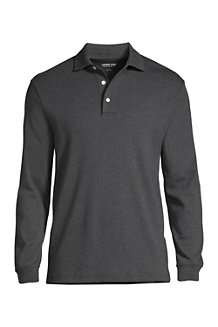 Men's Tailored Fit Supima Polo Shirt - Long Sleeve
