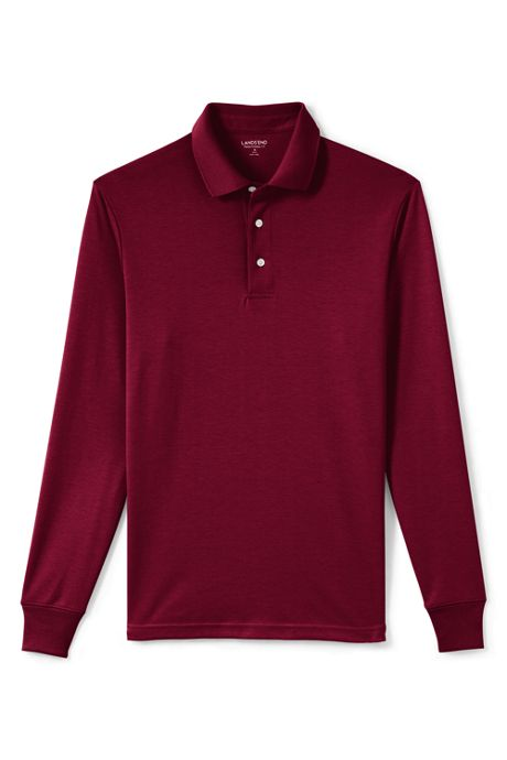 Men's Long Sleeve Supima Polo Shirt