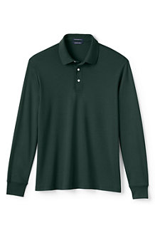 Men's Traditional Fit Supima® Polo - Long Sleeve