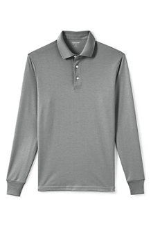 Men's Traditional Fit Supima Polo Shirt - Long Sleeve