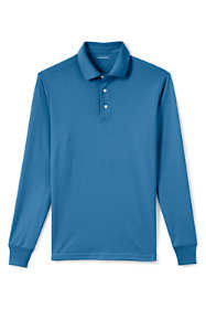 Men's Tall Long Sleeve Super Soft Supima Polo Shirt