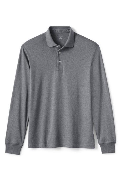 Men's Long Sleeve Supima Interlock Polo Shirt