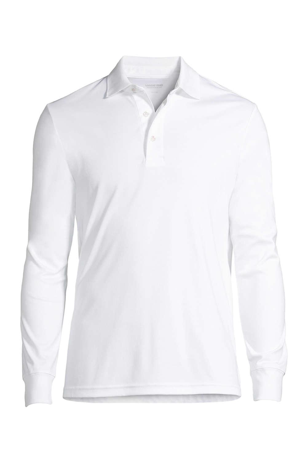 ad648c798f5 Men's Big & Tall Long Sleeve Supima Interlock Polo Shirt