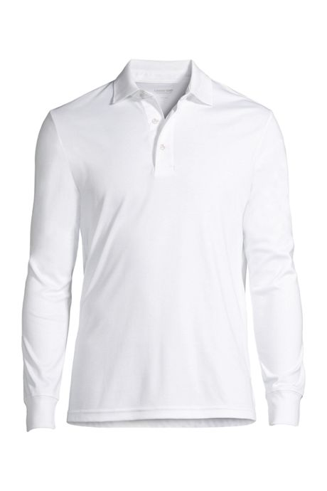 Men's Tall Long Sleeve Supima Interlock Polo Shirt