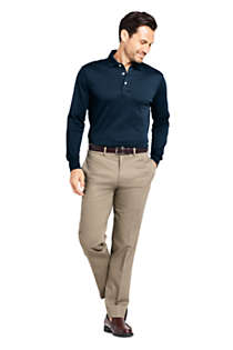 Men's Tall Long Sleeve Super Soft Supima Polo Shirt, alternative image