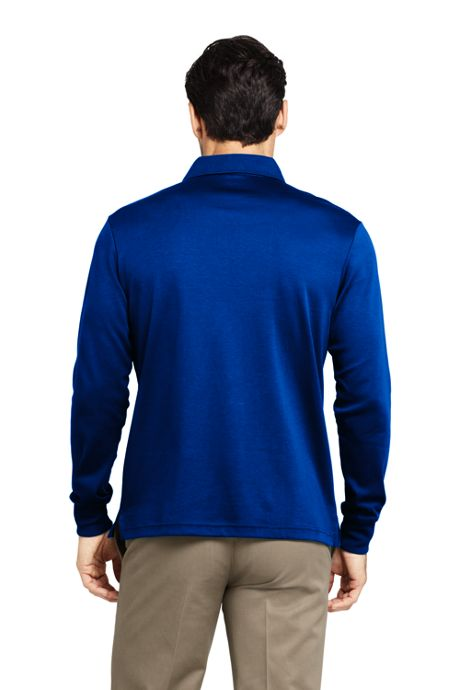 Men's Tall Long Sleeve Supima Polo Shirt