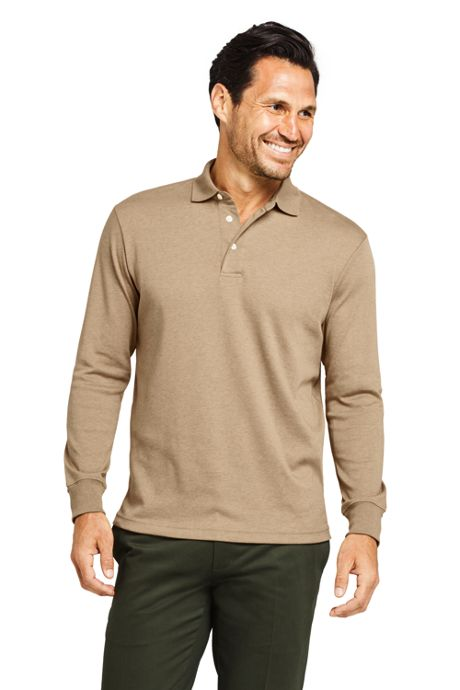 Men's Long Sleeve Super Soft Supima Polo Shirt