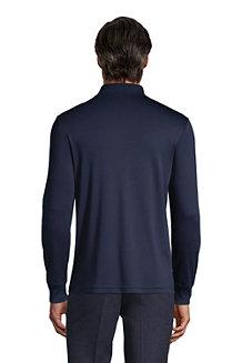 Polo Coton Supima Interlock Uni Manches Longues, Homme