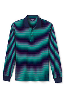 Men's Long Sleeve Stripe Supima® Polo