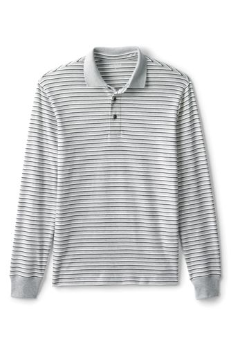 Men's Regular Long Sleeve Stripe Supima® Polo