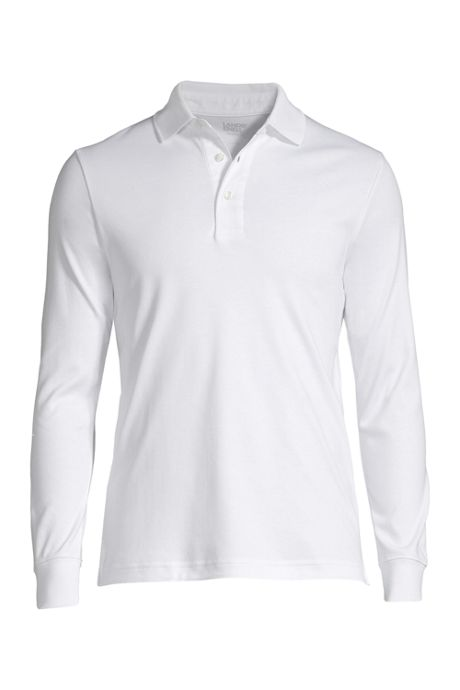 Men's Tailored Fit Long Sleeve Super Soft Supima Polo Shirt