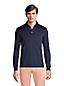 Polo en Coton Coupe Moderne Manches Longues, Homme Stature Standard