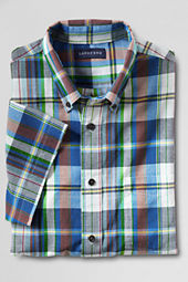 Men's Short Sleeve Navigator Blue Madras Shirt