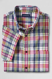 Men's Short Sleeve Washed Cherry Madras Shirt
