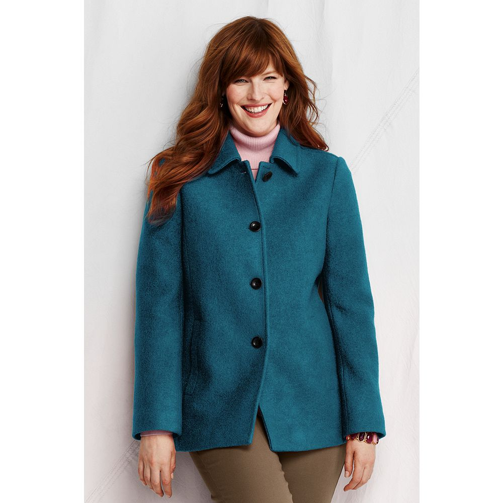 Lands' End Women's Plus Size Boiled Wool Jacket at Sears.com