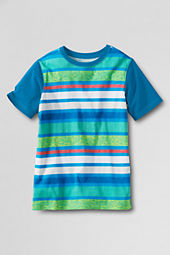 Boys' Short Sleeve Painted Stripe T-shirt