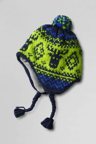 Boys' Moose Fair Isle Peruvian Bobble Hat