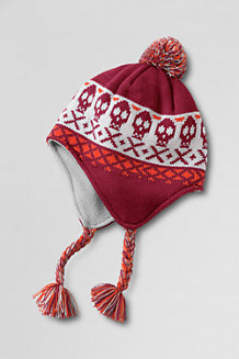 Boys' Skull Fair Isle Peruvian Bobble Hat