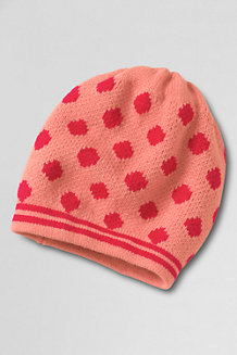 Girls' Dot and Stripe Hat