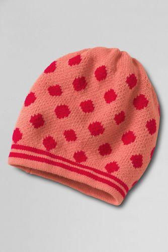 Punkte-und-Streifen-Mütze für Mädchen