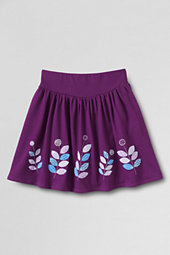 Girls' Appliqué Hem Jersey-knit Skort