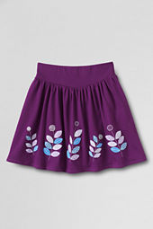 Girls' Knit Applique Skort