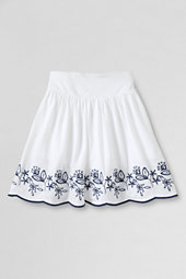 Girls' Embroidered Hem Jersey-knit Skort