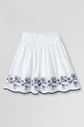 Girls' Knit Embroidered Skort