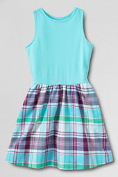 Girls' Madras Duet Dress