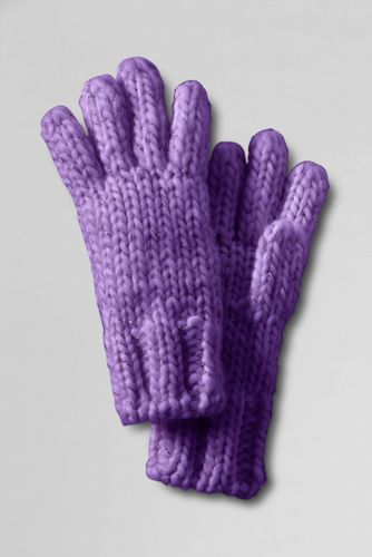 Girls' Metallic Shimmer Aran Gloves