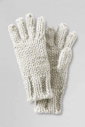 Girls' Metallic Shimmer Aran Gloves
