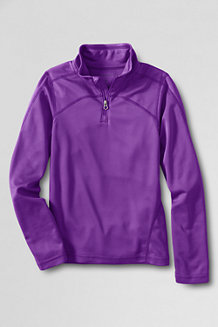 Girls' Thermskin Heat Half Zip Top