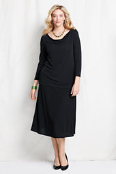 Women's Plus Size Matte Jersey A-Line Skirt