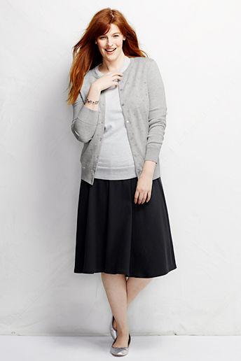 40938bf4e47b1 ... Women s Plus Size Sport Knit Skirt - Black