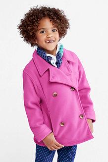 Girls' ThermaCheck-200 Fleece Pea Coat