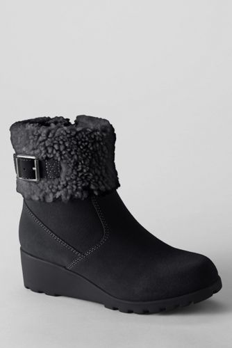 Girls' Fold over Ankle Boots