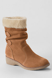 Women's Back-lace Chalet Suede Boots