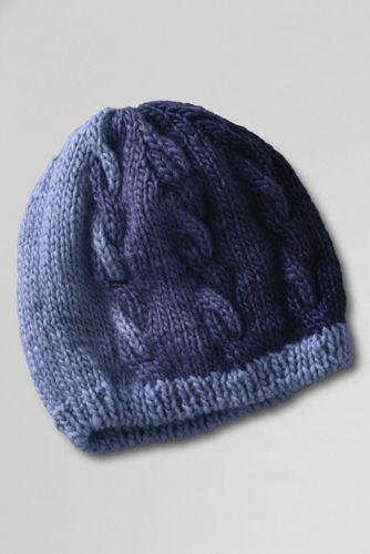 Mütze mit Zopfmuster für Damen