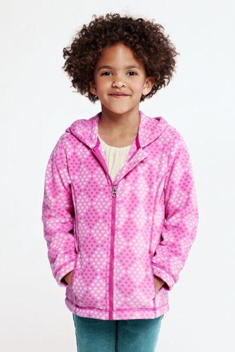 Gemusterte ThermaCheck 200 Fleece-Kapuzenjacke für große Mädchen