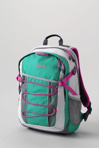 School Uniform Solid FeatherLight Medium Backpack - Aqua Pool,