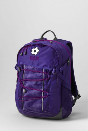 Solid FeatherLight™ Medium Backpack - Vibrant Concord Grid,