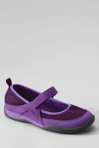 Lands' End Girls' Athletic Mary Jane Shoes - 9, Purple thumbnail