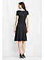 Women's Regular Sweater Knit Drape Neck Dress
