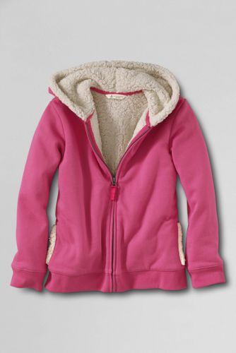 Girls' Sherpa Lined Zip Front Hoodie
