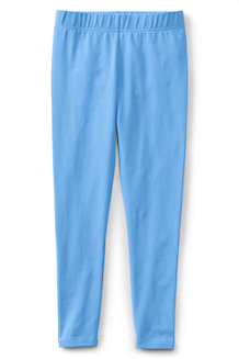 Girls' Plain Ankle Length Jersey Leggings