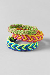 School Uniform Girls' Multi-colored Bracelets (3-pack)