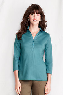 Women's Pima Three-quarter Sleeve Tunic