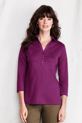 Women's Regular Pima Three-quarter Sleeve Tunic