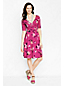 Women's Regular Elbow-sleeve Patterned Jersey Crossover Dress