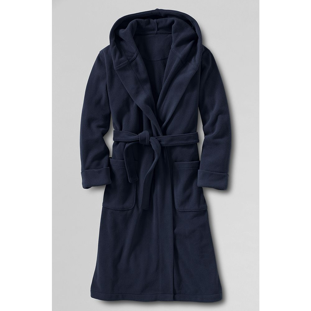 Lands' End Little Boys' Solid Hooded Fleece Robe at Sears.com